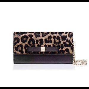 NWOT Kate Spade Black Calf Hair Milou Wallet A118